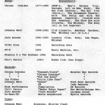 Brock's typed Rock and Roll resume after graduating from the Percussion Institute in LA in the early 80's