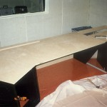 Top of the desk in place