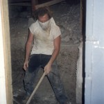 Ralph Digs out the Vocal Booth (now the Machine Room)
