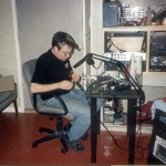 Mark at the soldering table
