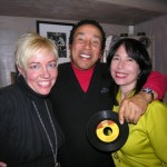 Danette Christine, Smokey Robinson and Anny Celsi at Catasonic