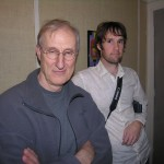 James Cromwell and Director Sean Meredith working on Narration for Dante's Inferno